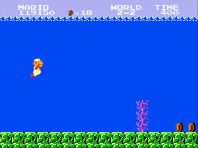 Super Mario Bros - Genesis - underwater - User Screenshot